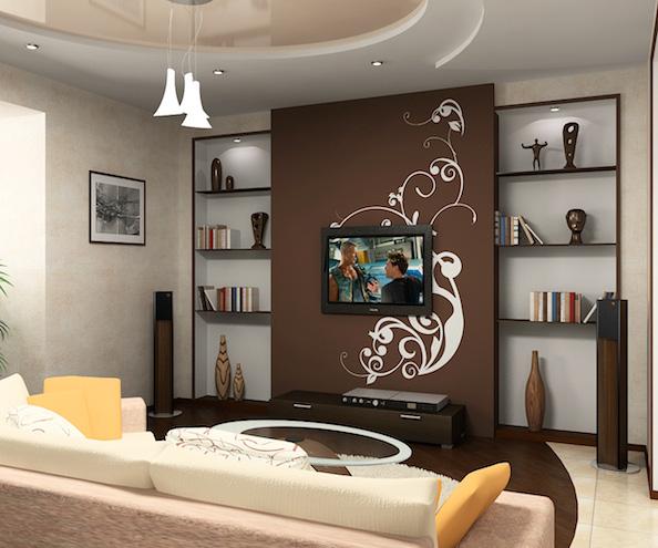 обои дизайн фото для зала