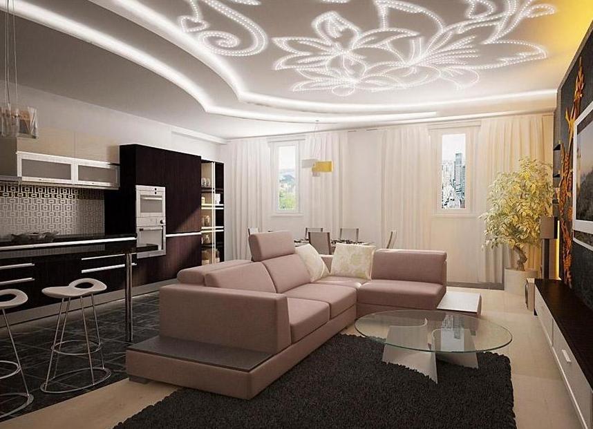 Дизайн потолков без гипсокартона