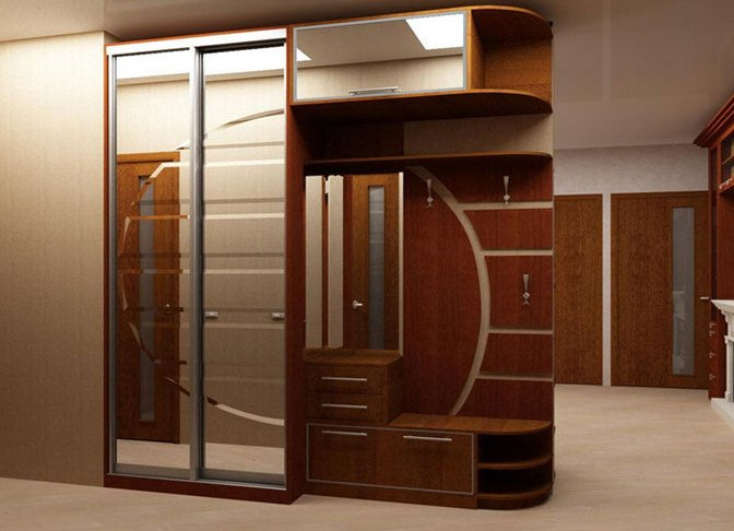 Встроенный шкаф в коридоре своими руками