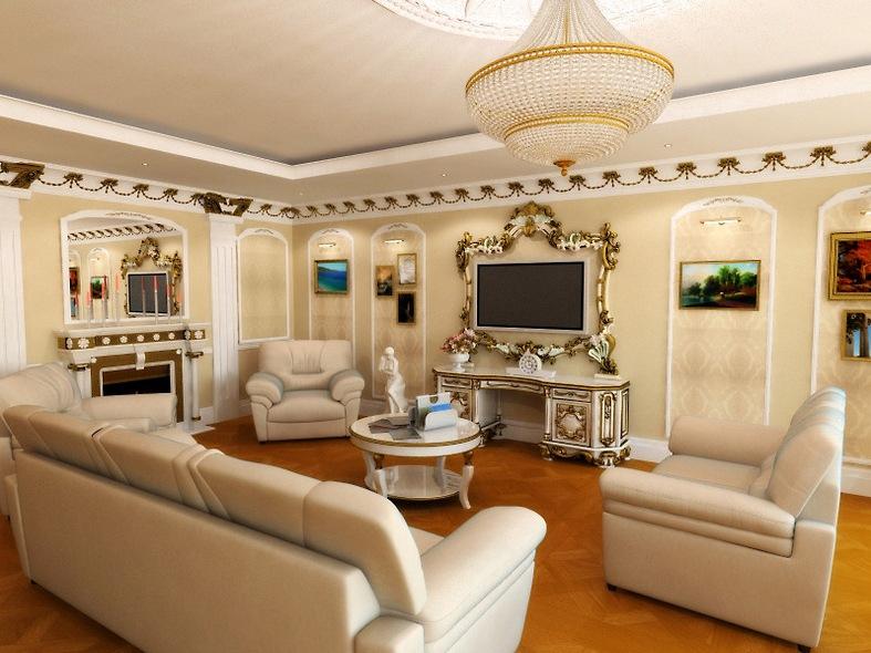 дизайн зала в доме фото частном