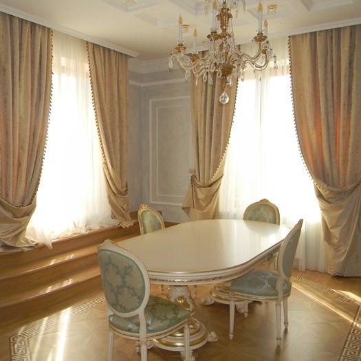 Шторы для гостиной столовой фото