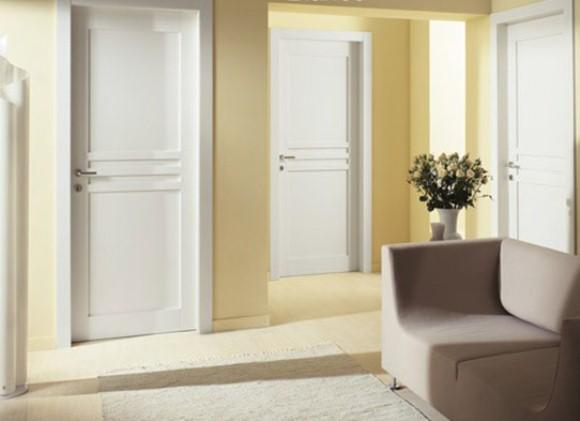 Двери беленый в интерьере