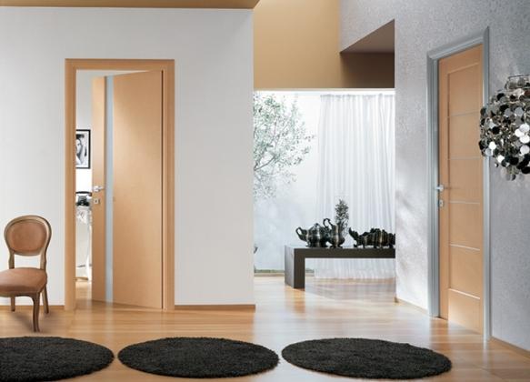 Двери светлый дуб в интерьере фото