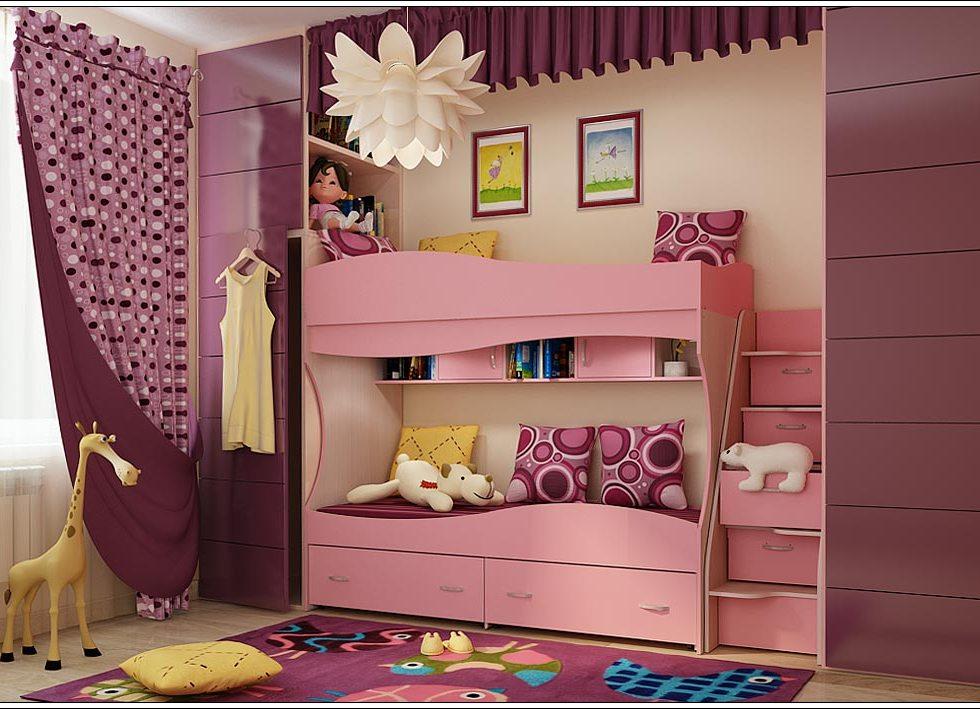 фото кроватки для девочек