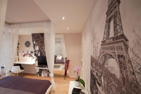 Дизайн комнат с эйфелевой башней
