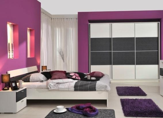 сочетание фиолетового цвета с другими цветами в интерьере