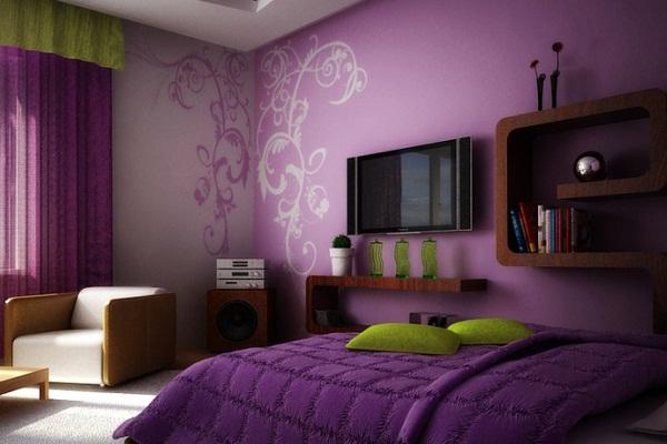 шторы для спальни коричневого цвета фото