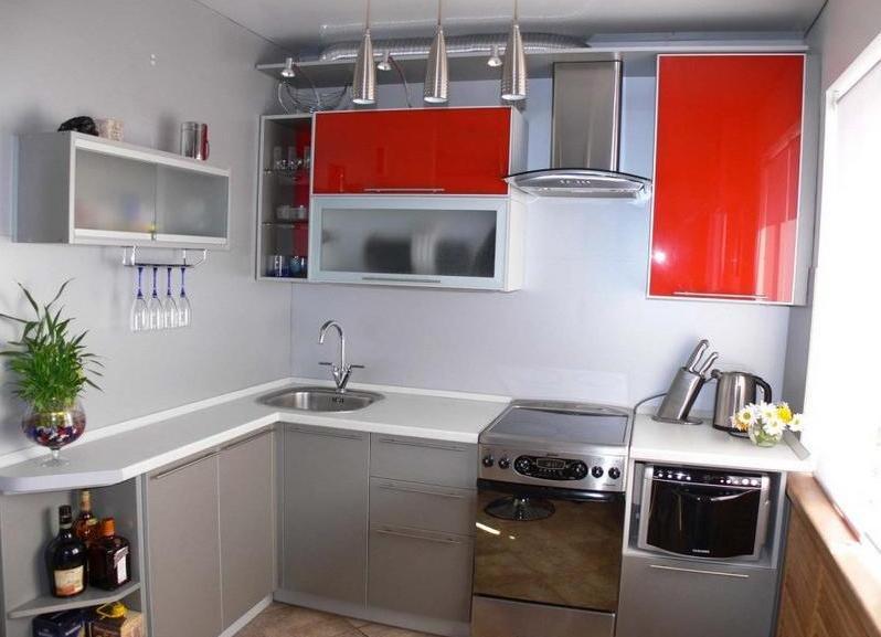 Интерьер кухонные гарнитуры для маленькой кухни