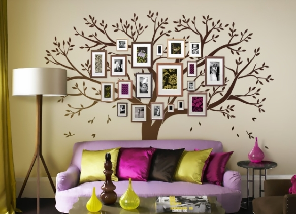 дерево фото на стене