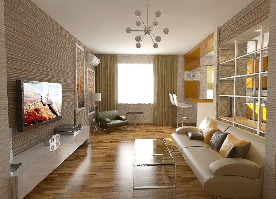 Дизайн интерьера в теплых тонах