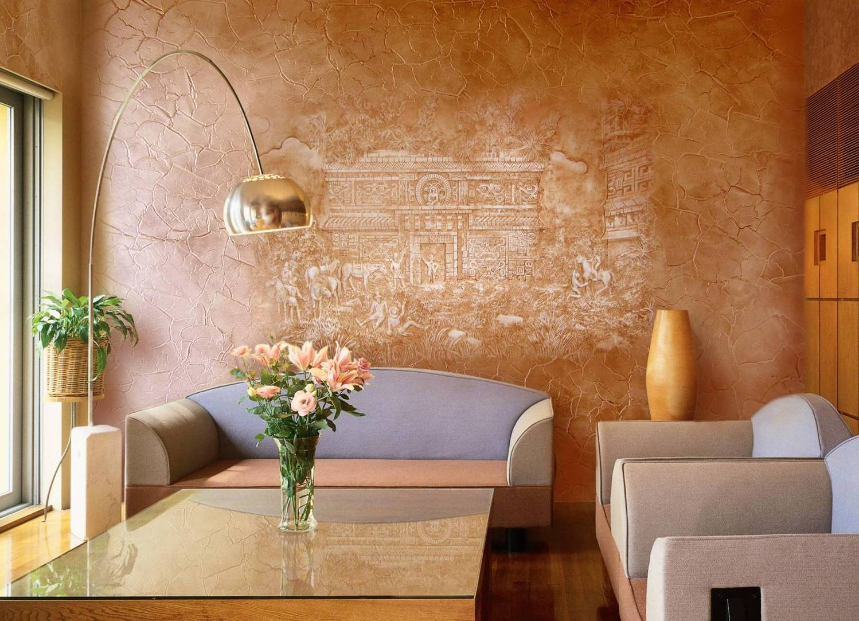 Интерьер стен в зале