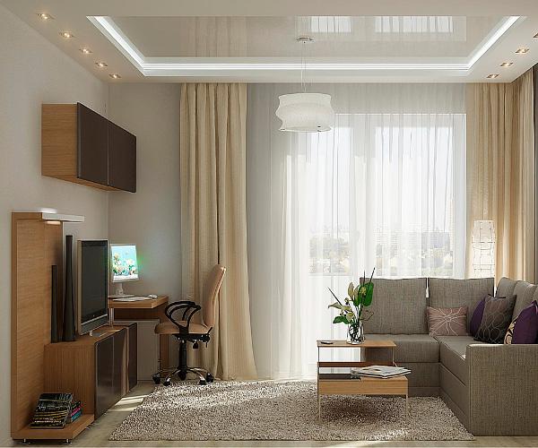 100 лучших идей гостиная и спальня в одной комнате на фото