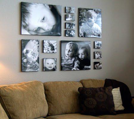 Оформление стены фотографиями: идеи для интерьера.