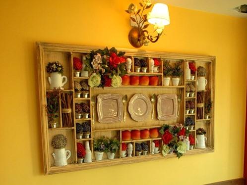 как задекорировать стену на кухне фото