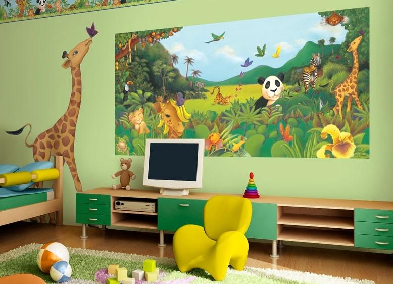 Дизайн интерьера детской с фотообоями