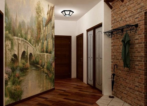 Оформление стен в прихожей фото