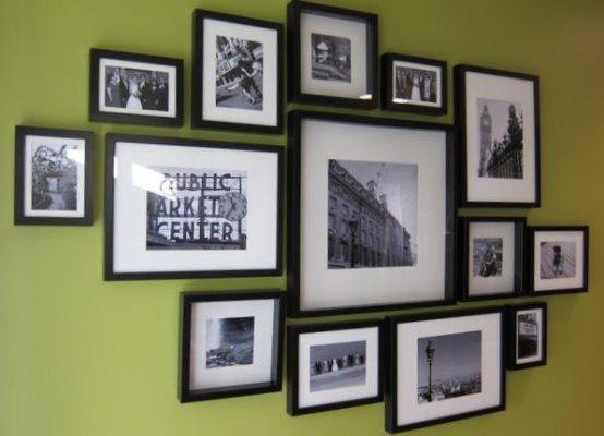 Коллаж из фотографий в рамках на стену своими руками