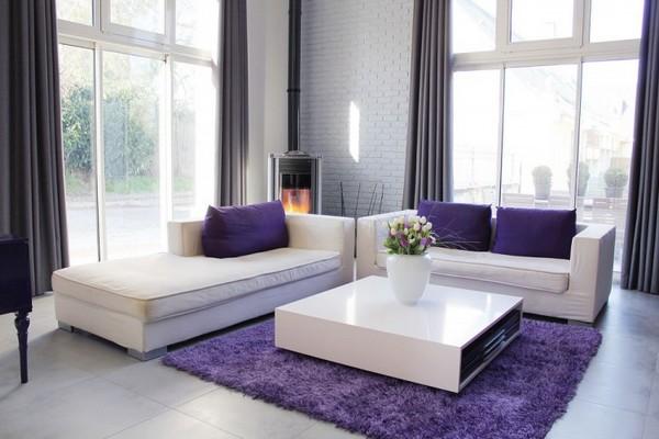 ковёр в интерьере гостиной фото