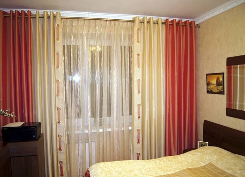 Красивые шторы для спальни1