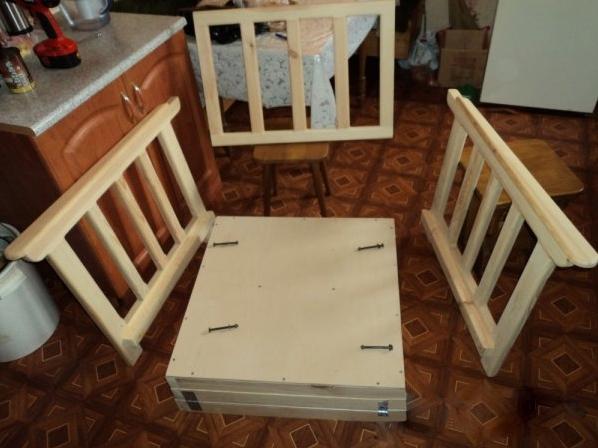 Кресло-кровать своими руками с чертежами