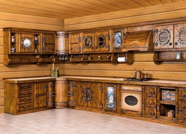 Мебель для кухни из дерева фото своими руками