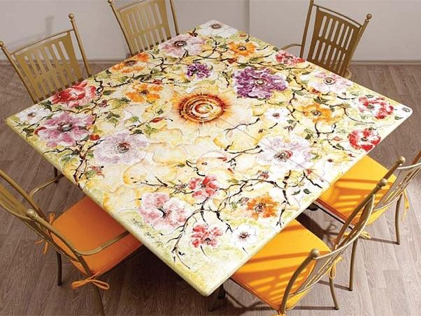 Обеденные столы из керамической плитки своими руками