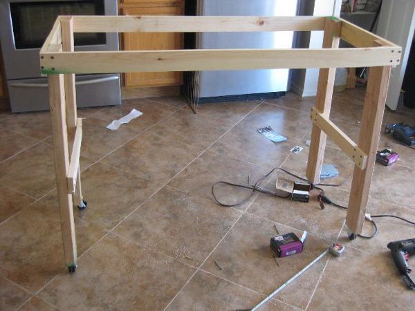 Кухонный сделать стол своими руками фото