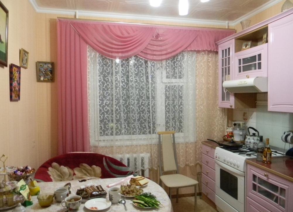 Шторы и ламбрекены на кухне: фото пошива своими руками и вык.