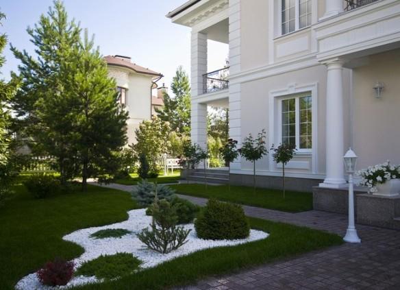 Территория вокруг дома ландшафтный дизайн