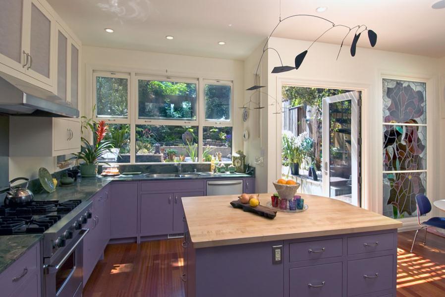 Дизайн кухни беленый дуб
