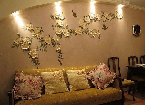 Лепнина на стенах в квартире своими руками фото