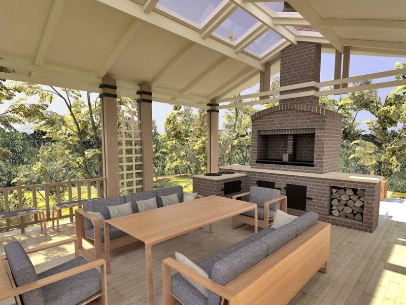 Дизайн летних кухонь частного дома