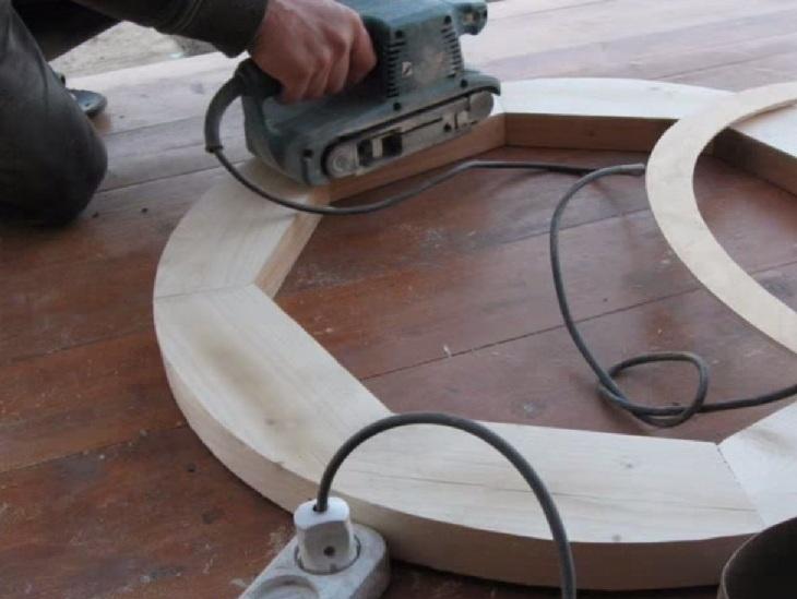 Как сделать круг на дереве 165