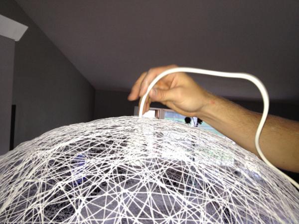 Люстра из ниток своими руками пошаговая инструкция с фото