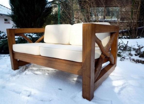 Как сделать диван из дерева своими руками