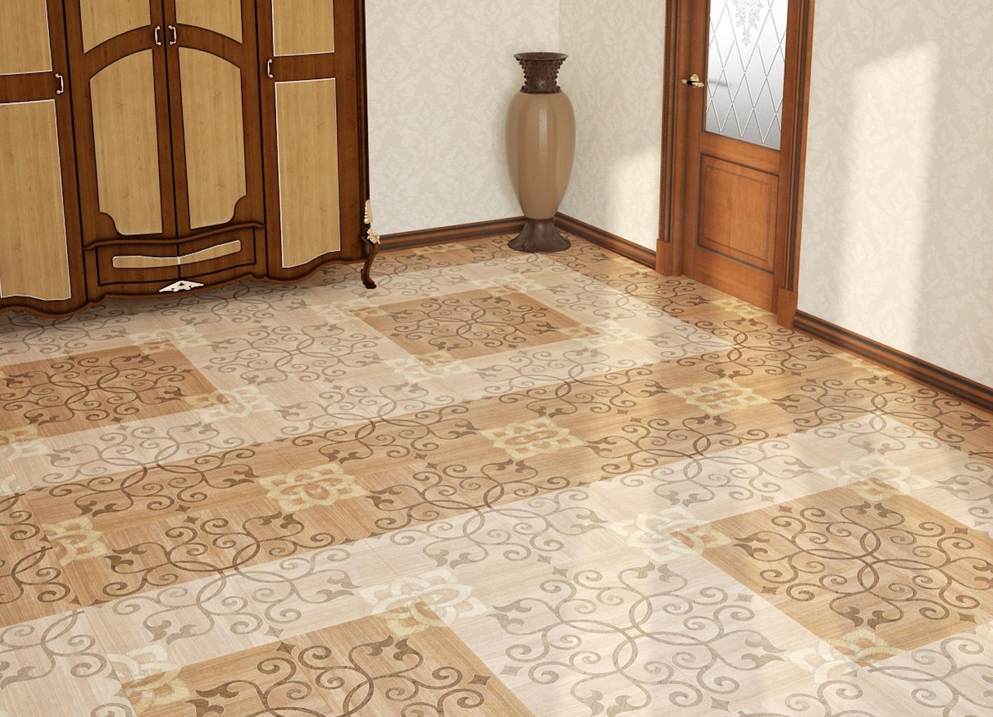 пол плитка в коридоре фото