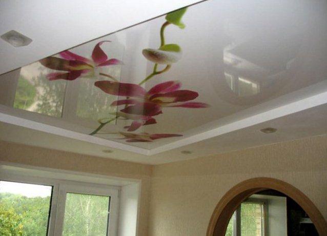 Натяжные потолки в ванной своими руками фото 86