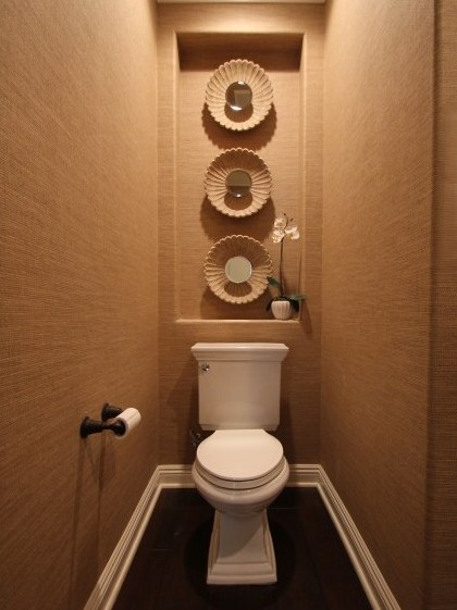 Bathroom shelving over the toilet