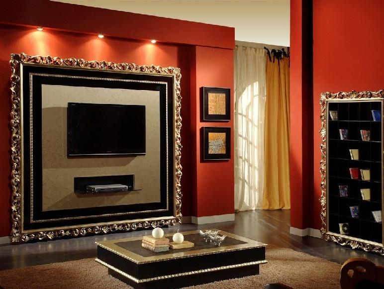 стенки из гипсокартона для гостиной фото
