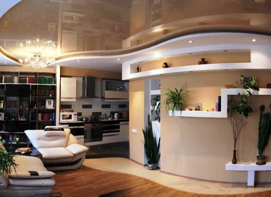 Частный дом дизайн зала