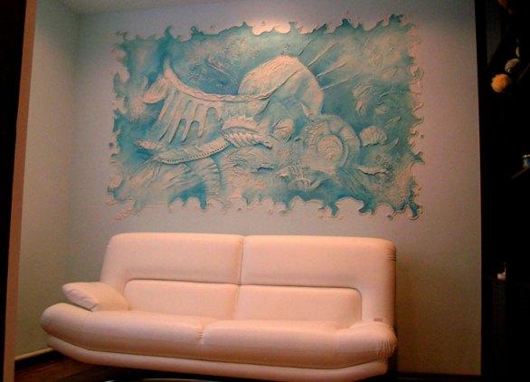 Объемный рисунок на стене для детской