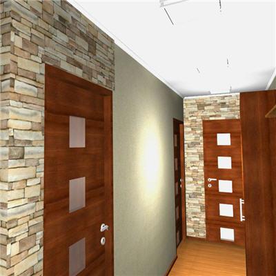 В любом коридоре бамбуковые обои
