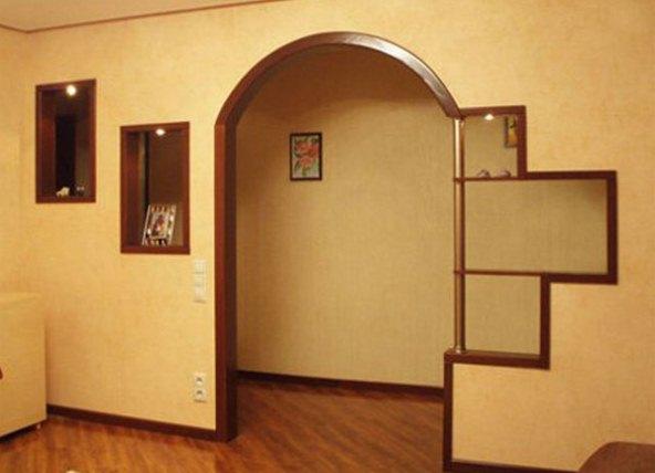 Дизайн дверного проема на кухне