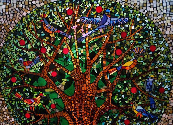 Панно из мозаики 13