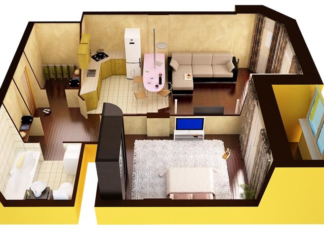 Как из 2 комнатной квартиры сделать 3 комнатную проект - Stroy portal
