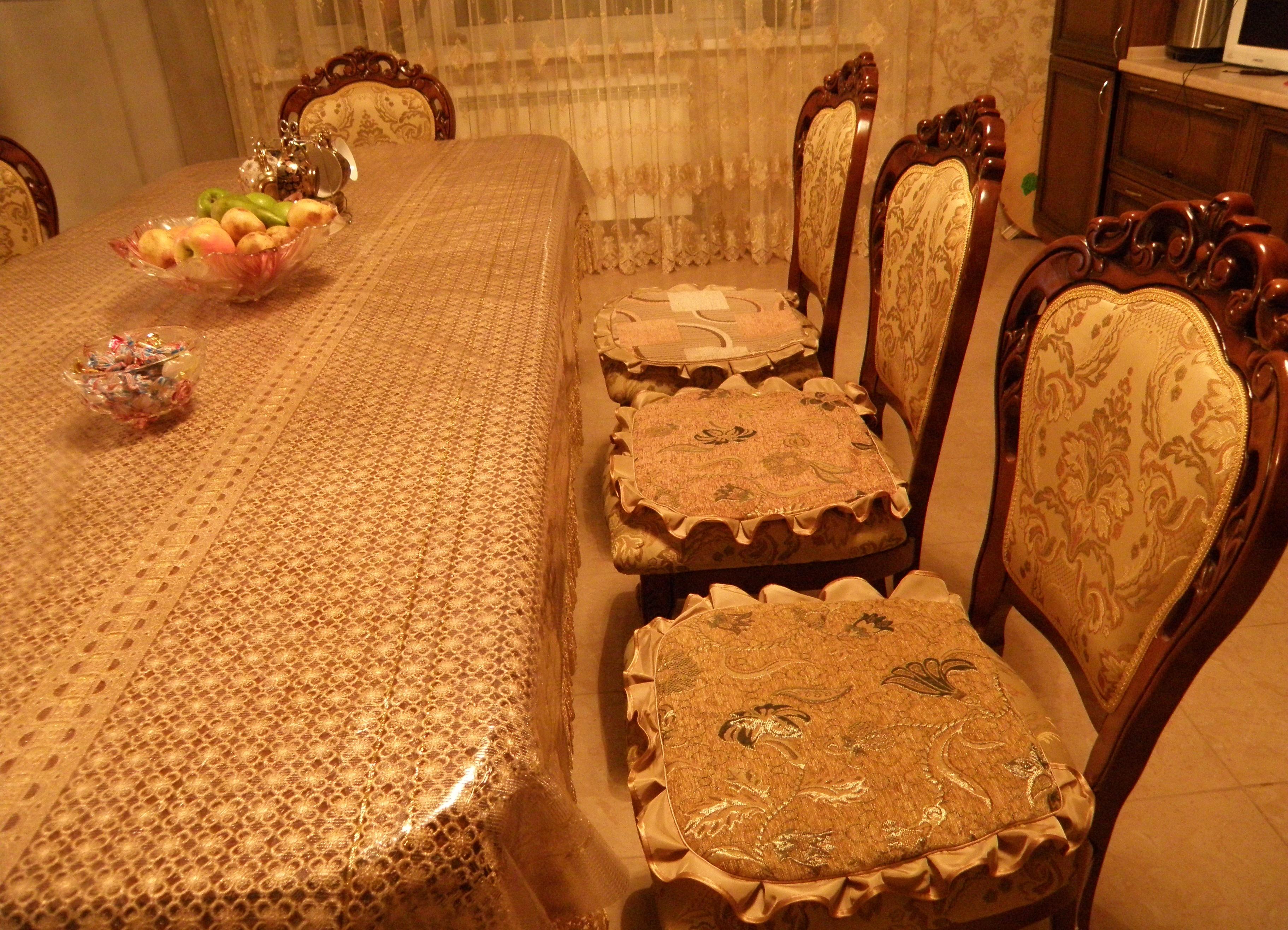 Декоративные подушки на стулья, дизайн, фото, видео 2