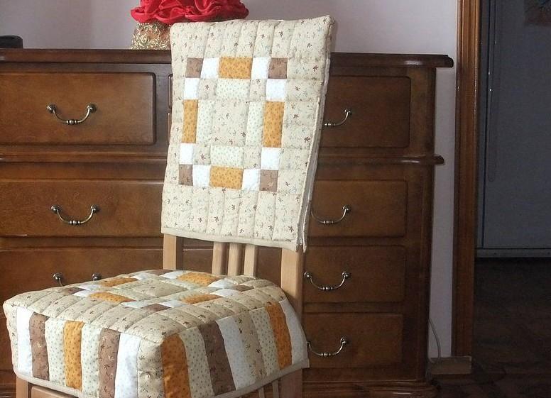 Пэчворк сиденье на стул