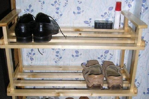 Как сделать полку для обуви из досок своими руками фото 68