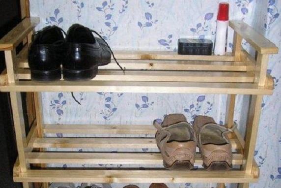 Полка для обуви своими руками из дерева чертеж