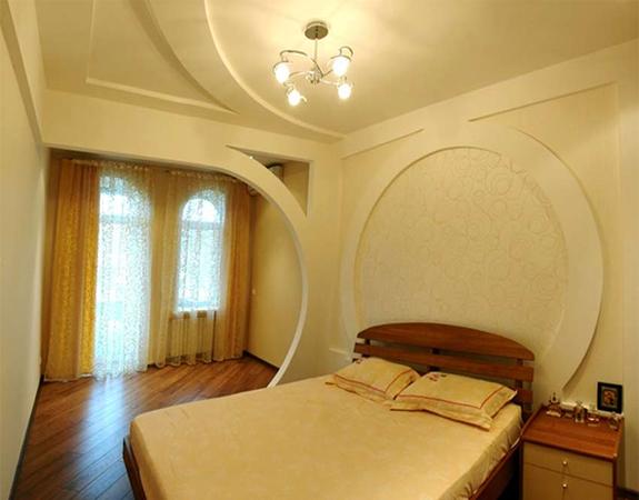 Потолки в спальне из гипсокартона своими руками